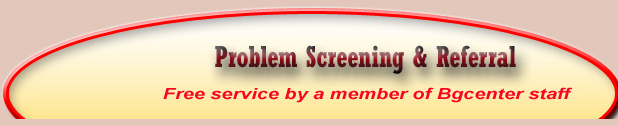 Problem screening and referral